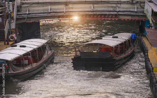 Fotobehang Bangkok Public boat