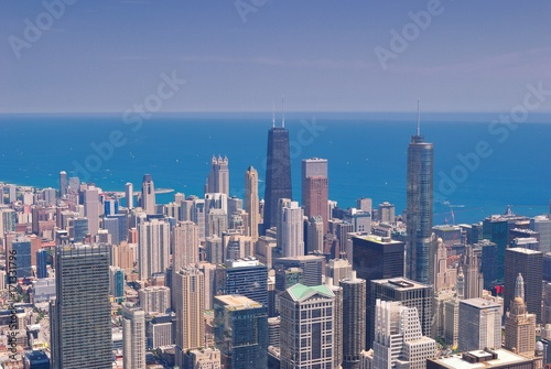 Fotobehang Chicago Chicago Skyline from above.