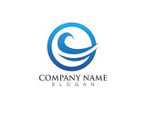 Water wave logo Template vector - 171332143