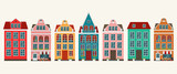Set of european colorful old houses - 171345751