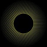abstract circle halftone dots frame