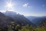 Passportenkofel under a sunbeam in the Dolomite Mountains
