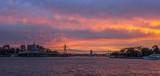 Colourful sunset Sydney cityscape