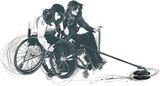 Athletes with physical disabilities - CURLING - original artwork - - 171358950