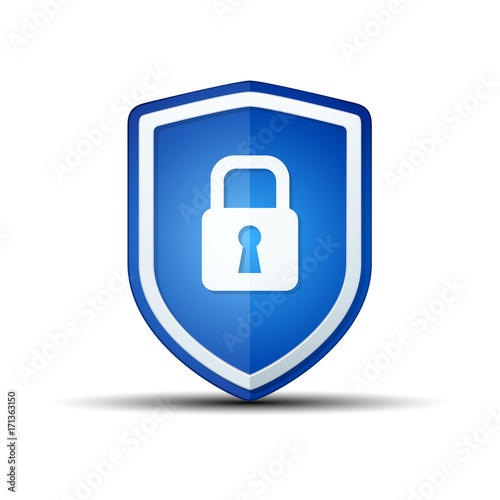 Secure Lock Shield sign шддгыекфешщт