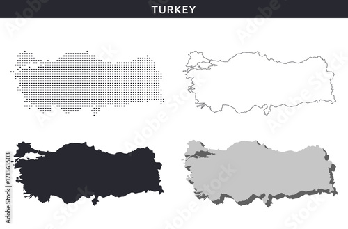 Turkey map vector collection, abstract patterns | Buy Photos | AP ...