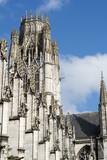 Abbatiale Saint-Ouen à Rouen. Tour-clocher couronnée. Gothique flamboyant. - 171364588