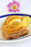 Traditional dessert Baklava on plat
