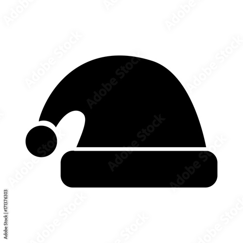 hat of santa christmas decoration cartoon vector illustration