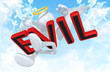 The Original 3D Angel Character Illustration Hit By Evil