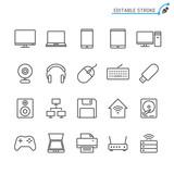 Computer line icons. Editable stroke. Pixel perfect. - 171398392