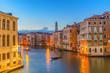 Venice sunset city skyline at Grand Canal, Venice (Venezia), Italy