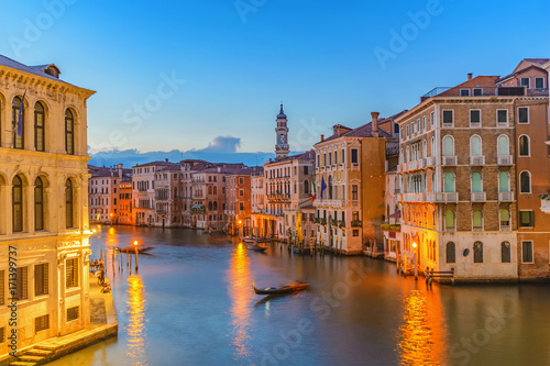Spoed canvasdoek 2cm dik Venetie Venice sunset city skyline at Grand Canal, Venice (Venezia), Italy