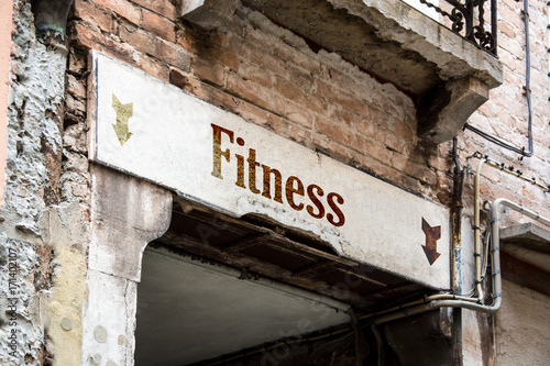 Sticker Schild 226 - Fitness