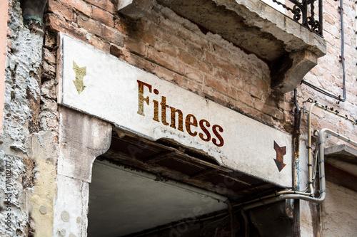 Fotobehang Fitness Schild 226 - Fitness