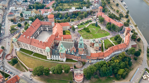 Krakow Wawel Castle from the height
