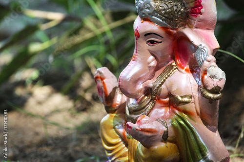 Plakát lord Ganesha statue