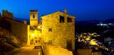 Night streets of Villafames,   Spain