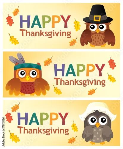 Papiers peints Enfants Happy Thanksgiving banners 2