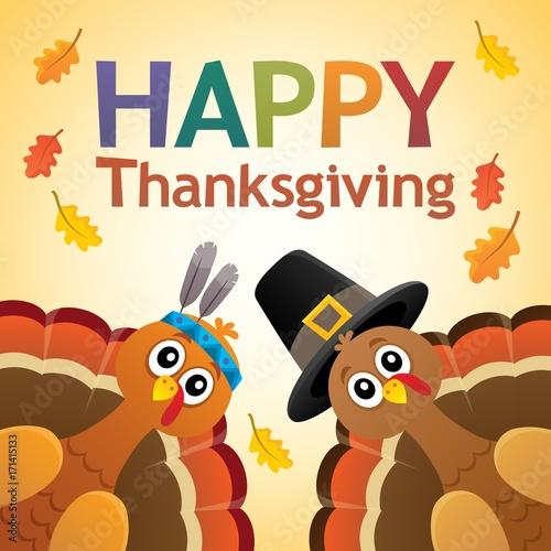 Papiers peints Enfants Happy Thanksgiving theme 7