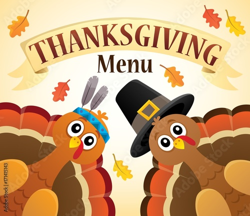 Papiers peints Enfants Thanksgiving menu theme image 6