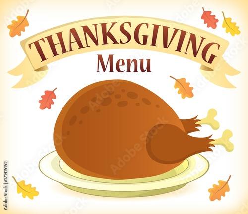 Papiers peints Enfants Thanksgiving menu theme image 7