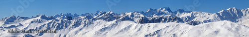 Papiers peints Photos panoramiques High mountains under snow in the winter Panorama landscape