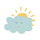 Vector hand drawn cloud
