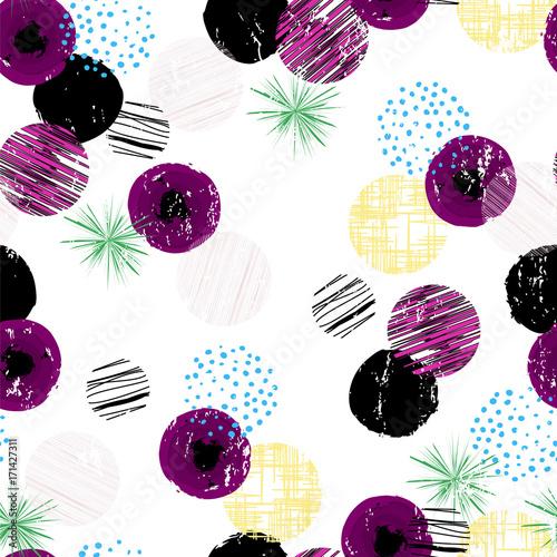 Fotobehang Abstract met Penseelstreken seamless polka dots background pattern,vector