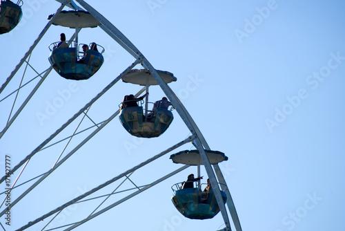 Fotobehang Amusementspark Riesenrad