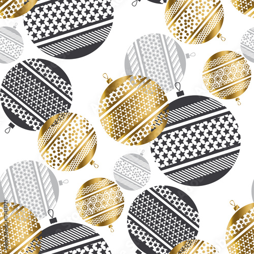 abstract gold new year baubles vector illustration. golden elegant style decorative design for celebration invitation, greeting card, header, banner.
