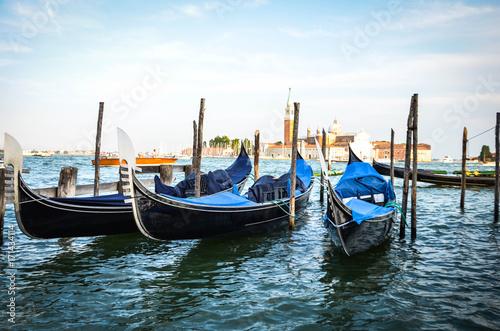 Foto op Plexiglas Venetie beautiful gondola in the venetian water