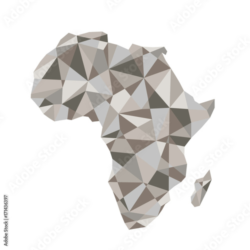 Map of Africa. Isolated vector illustration. Map of the African continent. - 171436397