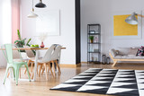 Bright room with geometric carpet - 171450191