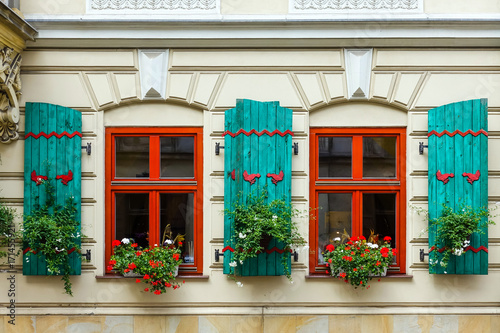 Foto op Plexiglas Krakau antique building view in Krakow, Poland