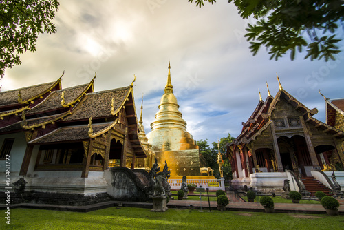 Fotobehang Thailand Wat Phra Sing Temple of Chiang Mai Thailand