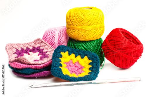 Hilos para tejer crochet y ganchillo Poster