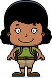 Cartoon Hiker Girl Smiling - 171466303