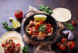 Fajitas with peppers for cooking Mexican tacos - 171466321