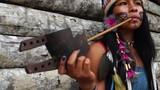 Indigenous Woman Smoking Pipes in a Tupi Guarani Tribe, Brazil - 171471118