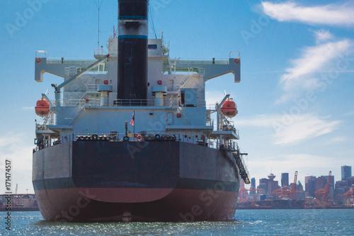 Keuken foto achterwand Canada Photo of big cargo ship