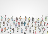 Large group of Isometric people. - 171476518