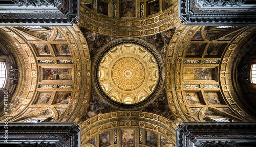 Foto op Plexiglas Napels Cupola Gesù Nuovo