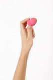 Hand with make up make up sponge isolated on white - 171484521