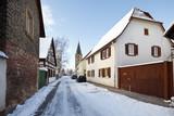 Old Village Street In Winter, Germany