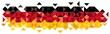 Abstract Germany Flag, German Colors (Vector Art)