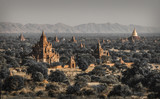 Sun rises at the Bagan Temples in Myanmar