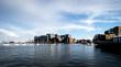 View over boston harbor