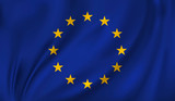 3D Waving Flag of European Union. Vector illustration - 171521905