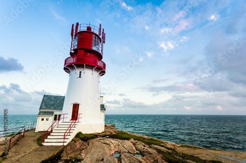 Aluminium Vuurtoren Lindesnes Lighthouse in Norway